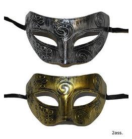 funny fashion/espa oogmasker zilver/ goud