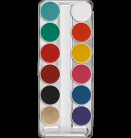 kryolan aquapalet 12 kleuren fp