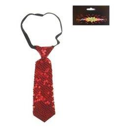 stropdas paillette rood kort