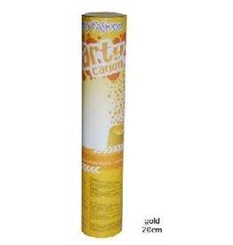 confetti shooter 20 cm goud
