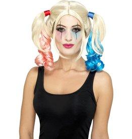 twisted harlequin wig
