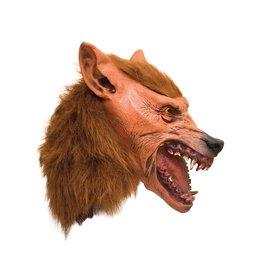 latex masker weerwolf bruin