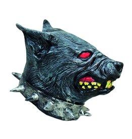 latex masker wolf met halsband