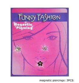 nep piercing magneet bloemetjes