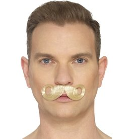 the imperial moustache, blonde, hand knotted snor