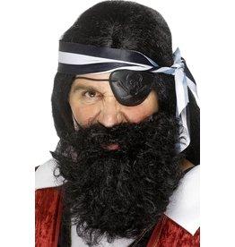 baard piraat zwart