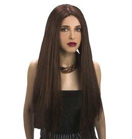 pruik bruin lang haar