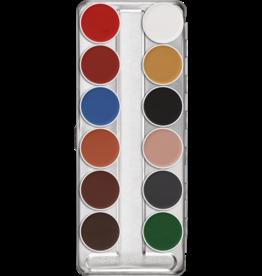 kryolan aquacolor palet 12 kleuren B