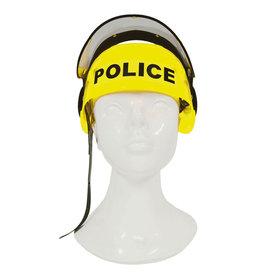 Funny Fashion Politie helm fluogeel