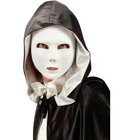 White fabric mask