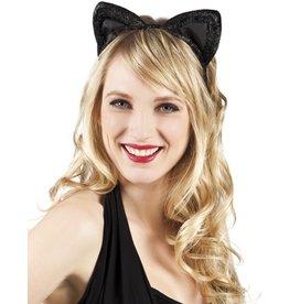 boland tiara velvet zwart kat