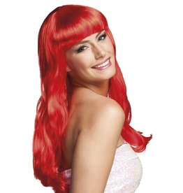 boland pruik lang haar rood