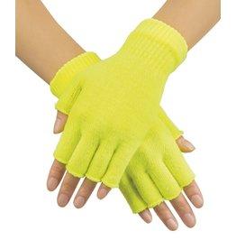 vingerloze handschoenen fluo geel