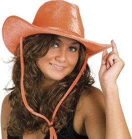 cowboyhoed velvet oranje