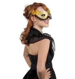 goud oogmasker met zwart