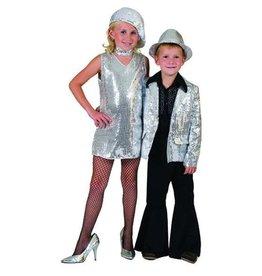 Disco tuniek zilver paillet