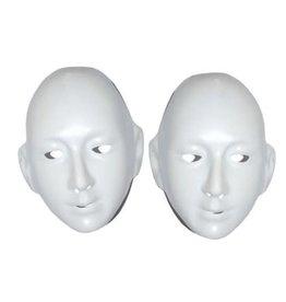 plastiek masker wit met oren