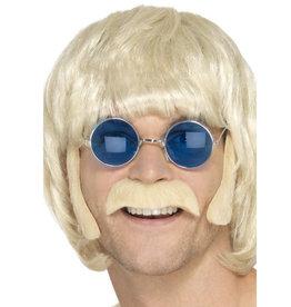 hippie set snor + bakkebaarden blond