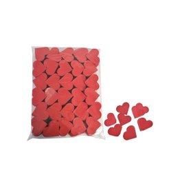 confetti rood hartjes 1 kg