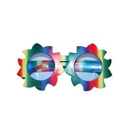 bril bloem regenboog