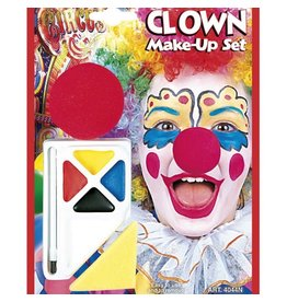 CLOWN WITH NOSE MAKE-UP SET