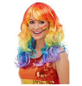 Smiffys Rainbow Glam Wig