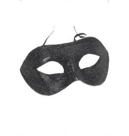 Smiffys Eyemask black glitter