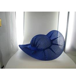 blauwe diva lady glitter hoed