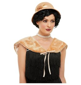 Smiffys 1920s instant Kit met beige hoed