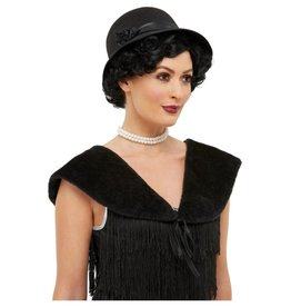 Smiffys 1920s instant kit met zwarte hoed
