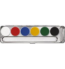 kryolan aqua palet A 6 kleuren