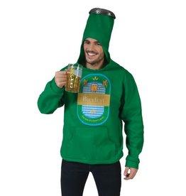 Funny Fashion Bierfles Hoodie trui met kap