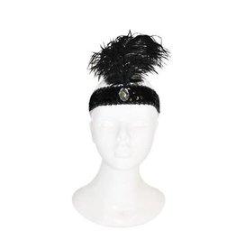 Funny Fashion charleston hoofdband zwart