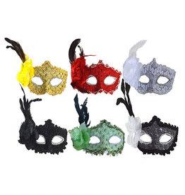 Funny Fashion venetiaans oogmasker met bloem