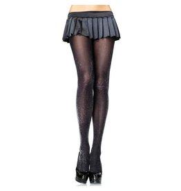 Black&silver glitter lurex tights