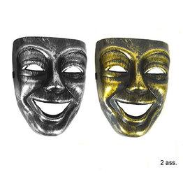 masker lachend goud of zilver