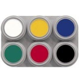 grimas Water Make-Up 6kleuren palet