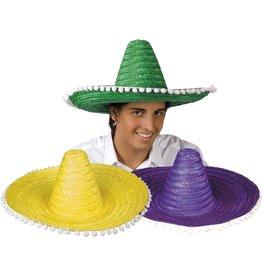 sombrero gekleurd met bollekes