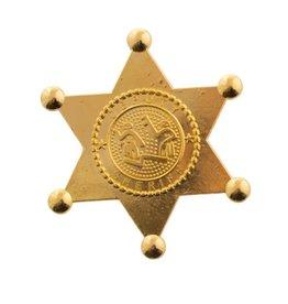 funny fashion/espa Sherrif badge goud