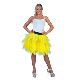 Funny Fashion Petticoat Fluo Geel