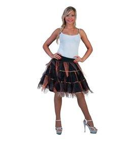 funny fashion/espa Petticoat Zwart met Goud