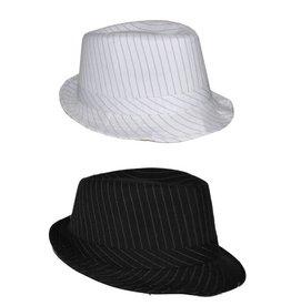 Funny Fashion Maffiahoed zwart of wit