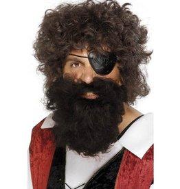 baard piraat bruin