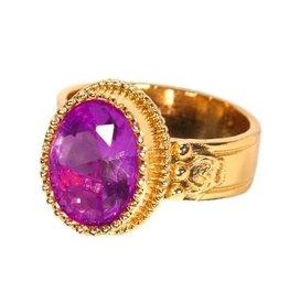Luxe ring Sint paars maat 24