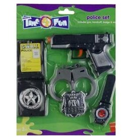 police set(revolver, badge, handboeien, horloge)