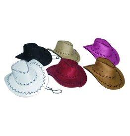cowboyhoed daim rood