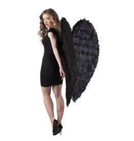 engelenvleugels zwart 120x120 cm