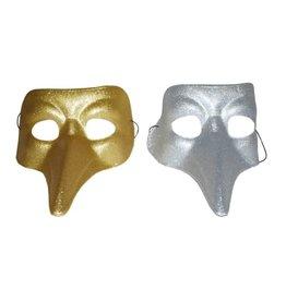 gliter masker goud/zilver