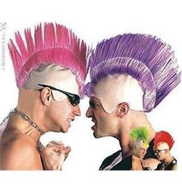 punk kaalkop met haar gekleurd