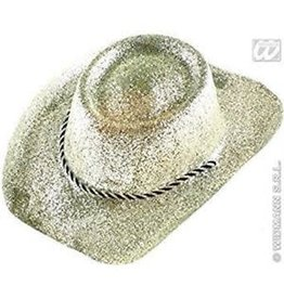 glitter cowboy hoed ZWART